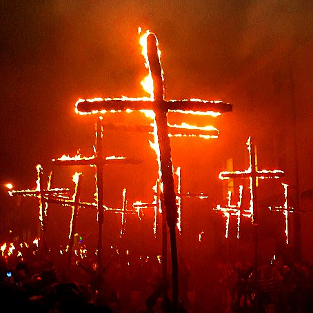 Burning Crosses in Lewes