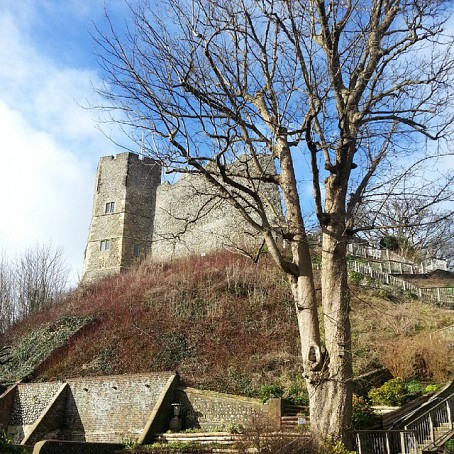 Lewes Castle from below