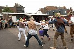 Dwyle flunking match, Commercial Square v Cliffe Bonfire Societies, Harveys Brewery Yard