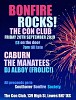 Bonfire Rocks The Manatees and Caburn at the Con Club