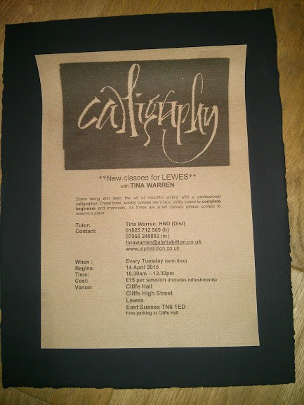 Whats On In Lewes Calligraphy Classes Every Tuesday 10