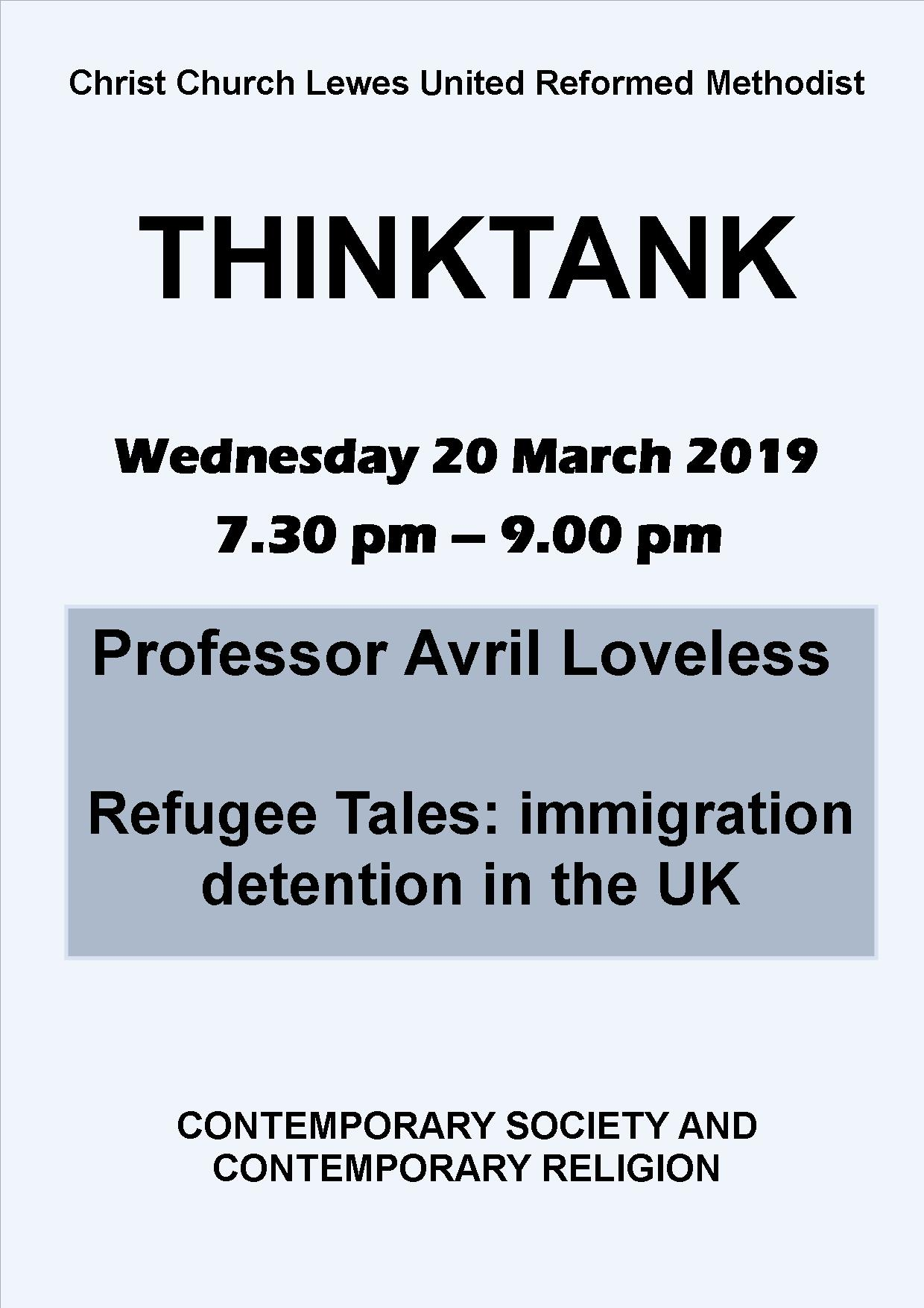 Whats on in Lewes - Think Tank Refugee Tales immigration detention